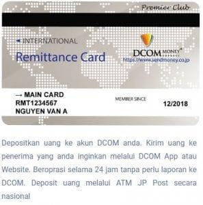 kartu DCOM ada dua kartu manual